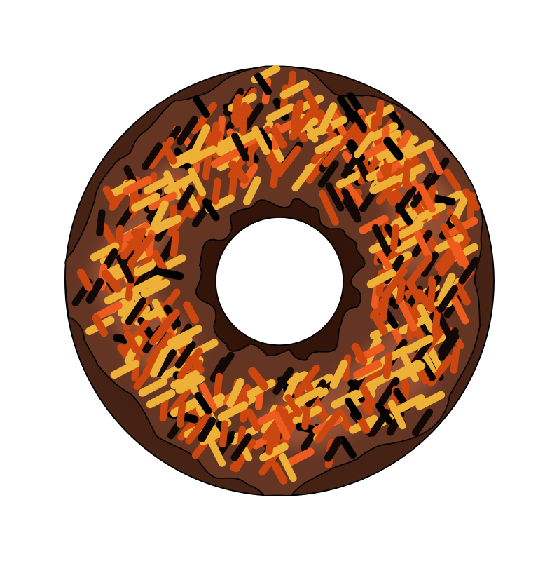 Clipart - Fall or Halloween Donut