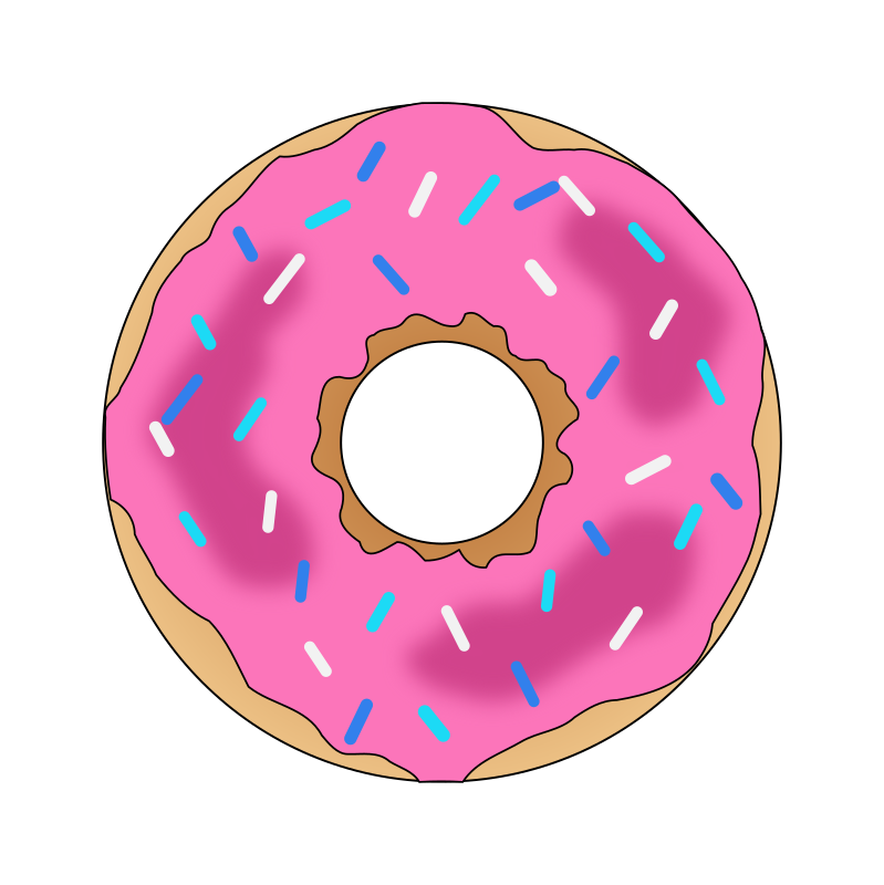 Clipart - Pink Donut