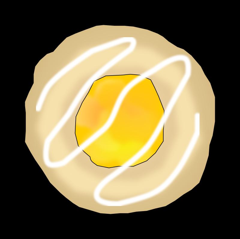 Clipart - Lemon Thumbprint Cookie