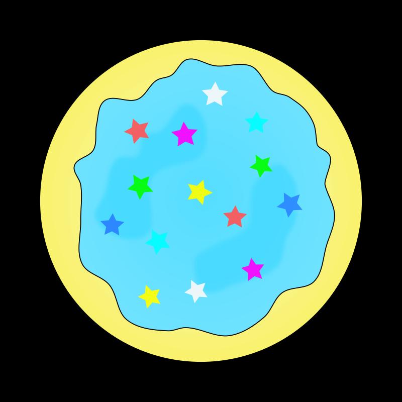 Clipart Blue Sugar Cookie