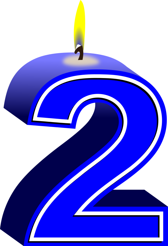 Clipart - birthday candle #2 blue