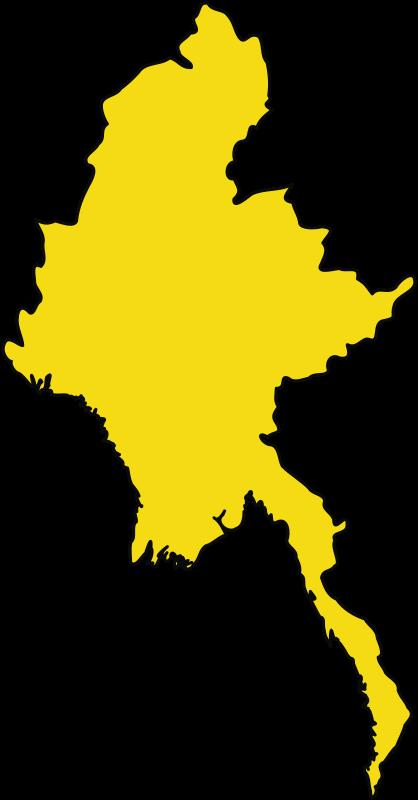 Clipart - Myanmar outline