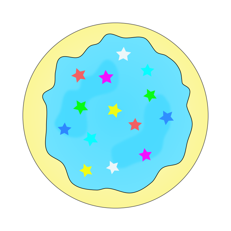 Clipart - Blue Sugar Cookie - Solid