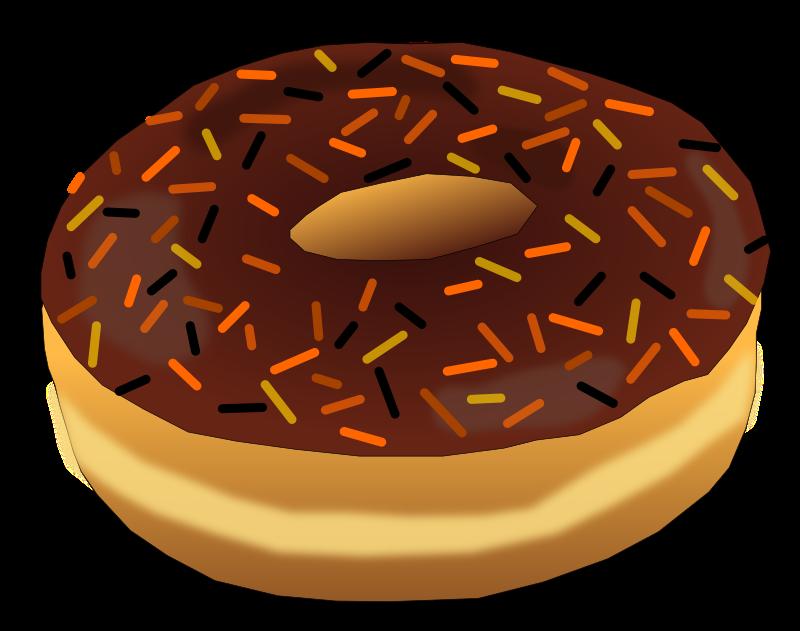 clipart   halloween donut 2