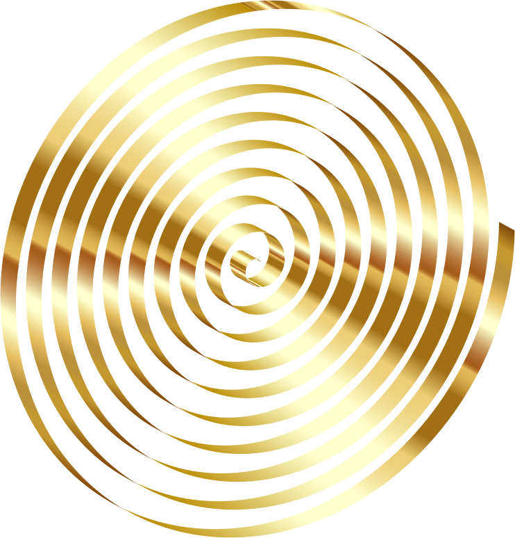 Clipart - Gold 3D Spiral No Background