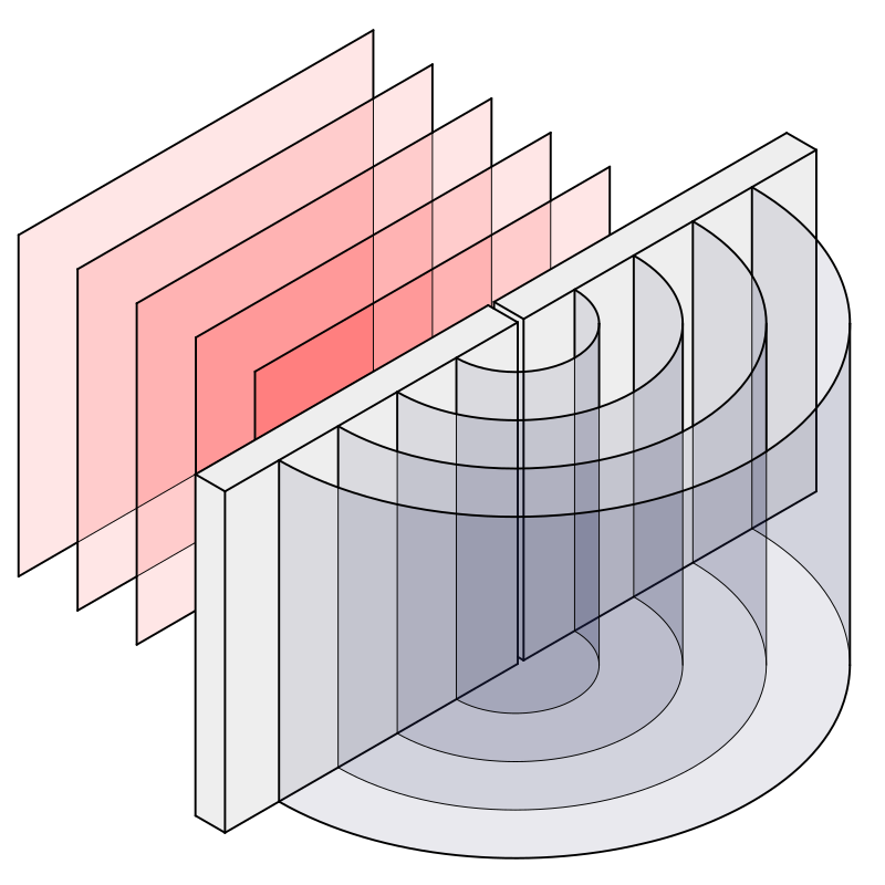 Diffraction through a slit by Anonymous - A lighting diagram