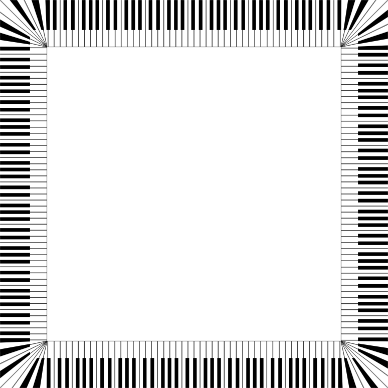 Clipart - Piano Keys Square