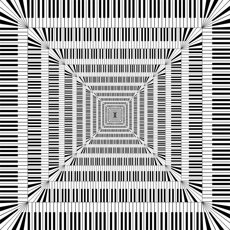 Clipart Piano Keys Square Vortex