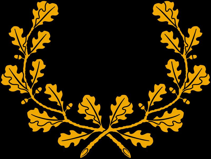 Clipart - Oak wreath