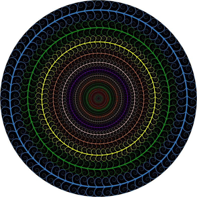 Clipart Prismatic Spiral Tree Circle