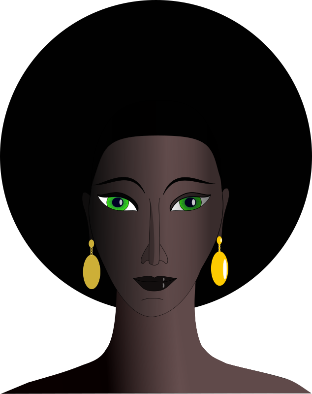 black woman with green eyes by Machovka - Black woman with green eyes.