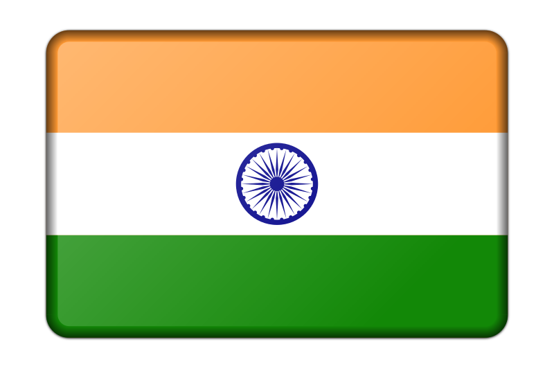 Office decoration pictures - Bevelled Version Of The Flag Of India Adapted From A Public Domain