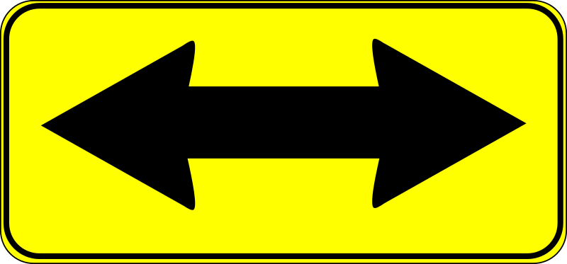 double arrow sign by Anonymous - from the Old OCAL database