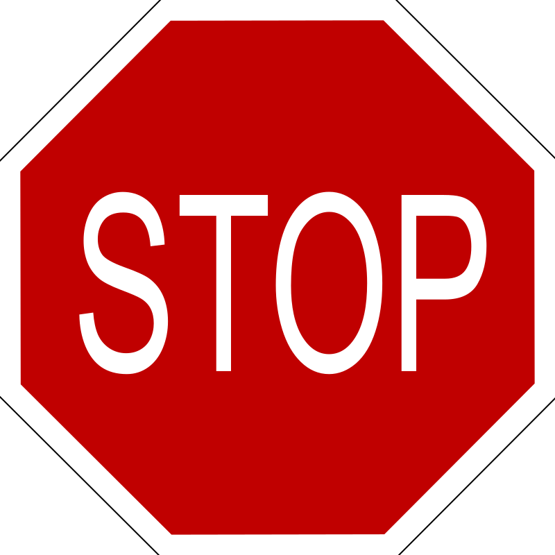 stop sign by Anonymous - from the Old OCAL database