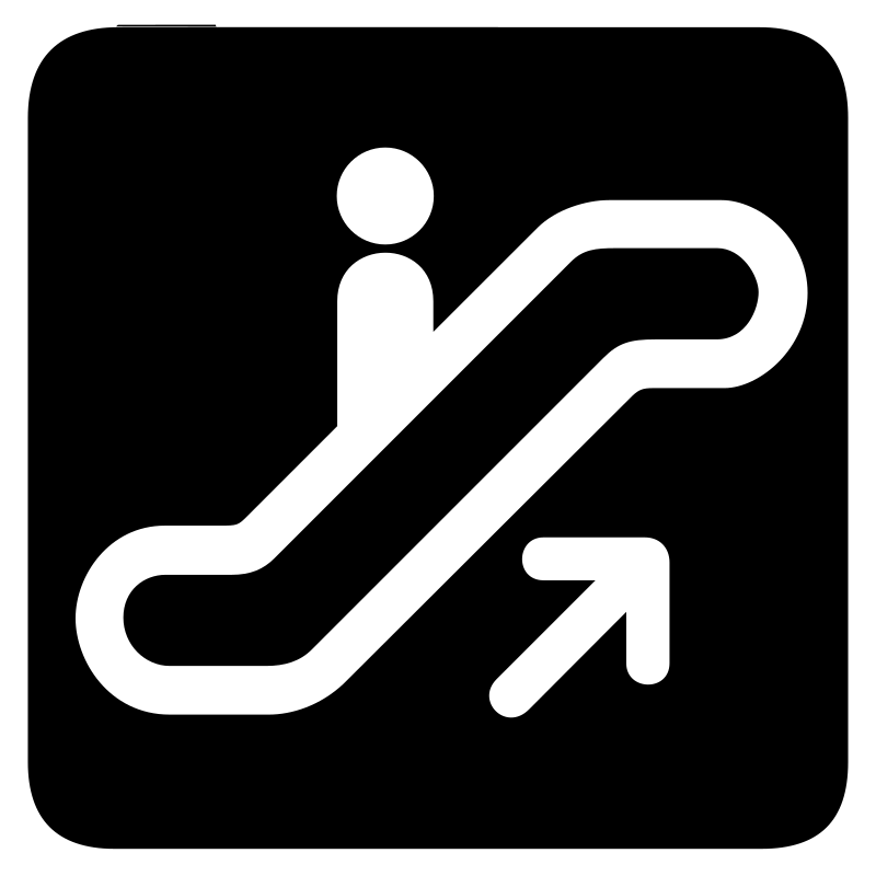aiga escalator up bg by jean_victor_balin - Set of international airport symbols.