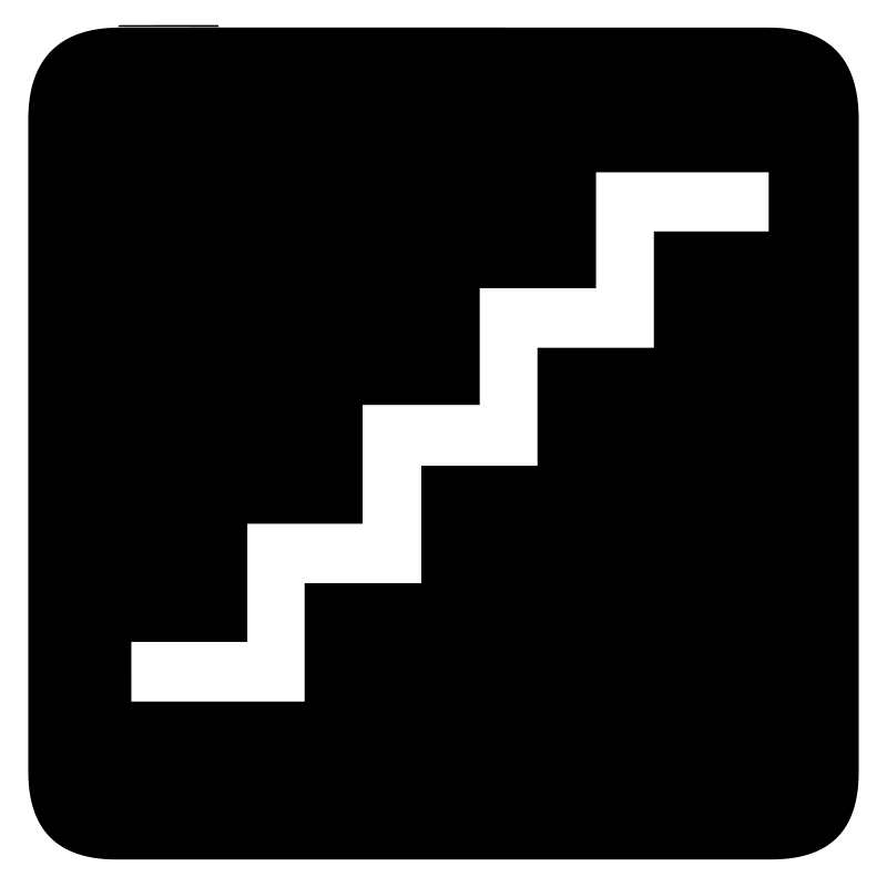 aiga stairs bg by jean_victor_balin - Set of international airport symbols.
