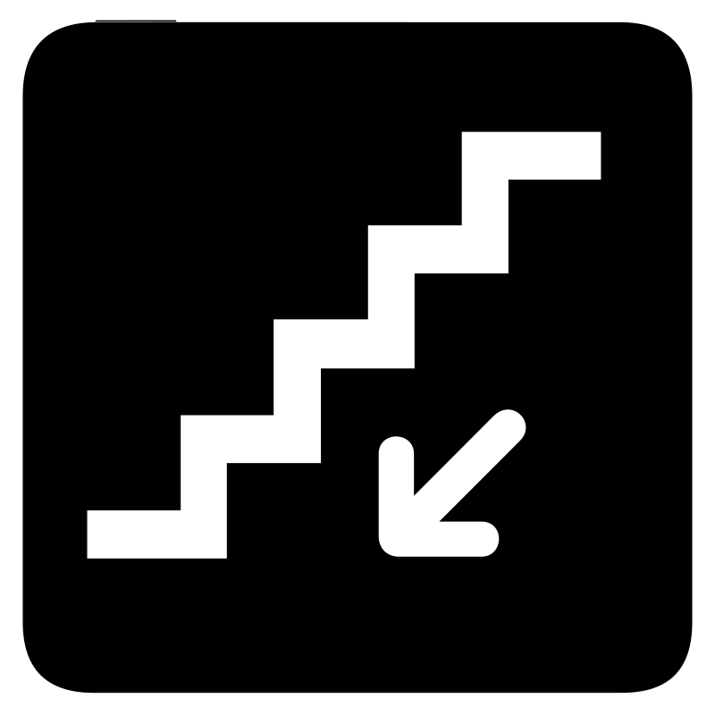 aiga stairs down bg by jean_victor_balin - Set of international airport symbols.