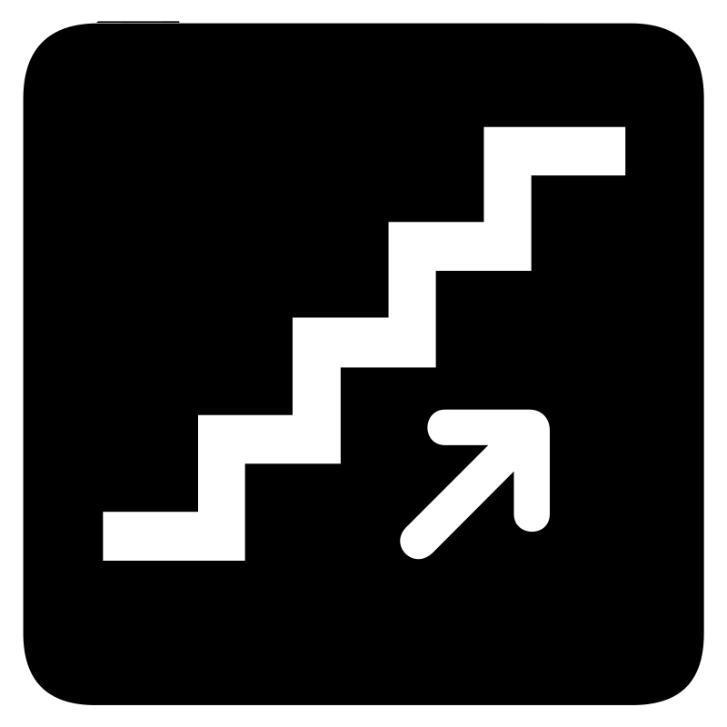 aiga stairs up bg by jean_victor_balin - Set of international airport symbols.