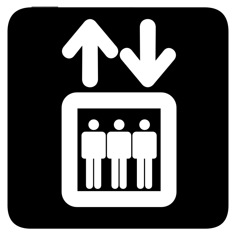aiga elevator bg by jean_victor_balin - Set of international airport symbols.