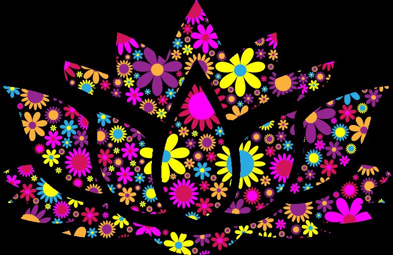 clipart floral lotus flower silhouette 8