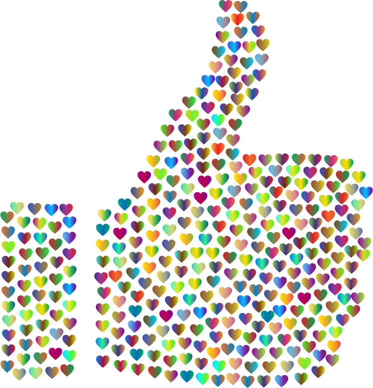clipart prismatic hearts thumbs up silhouette 4 no rainbow clip art free images rainbow clipart no background