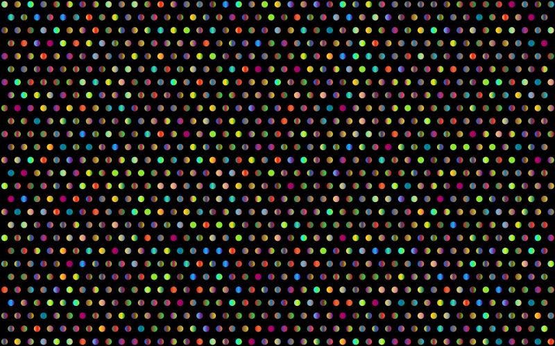 Clipart  Prismatic Polka Dots Mark II 3