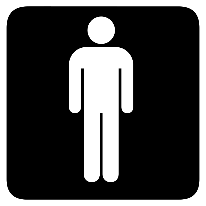 aiga toilet men bg by jean_victor_balin - Set of international airport symbols.