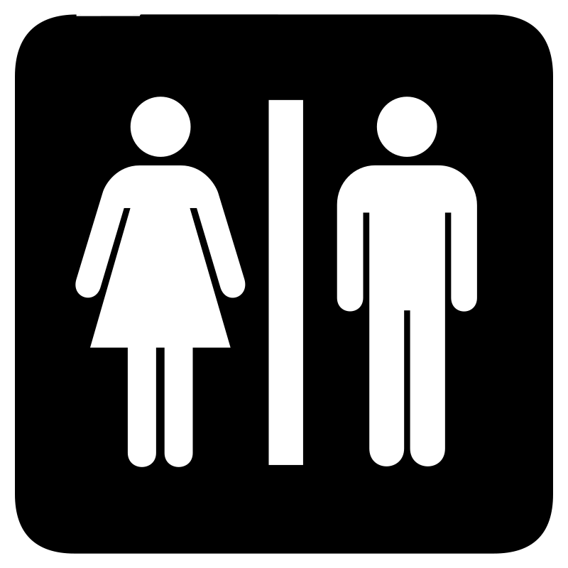 aiga toilets bg by jean_victor_balin - Set of international airport symbols.