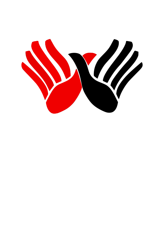 Clipart - Albania - Hands Red and Black