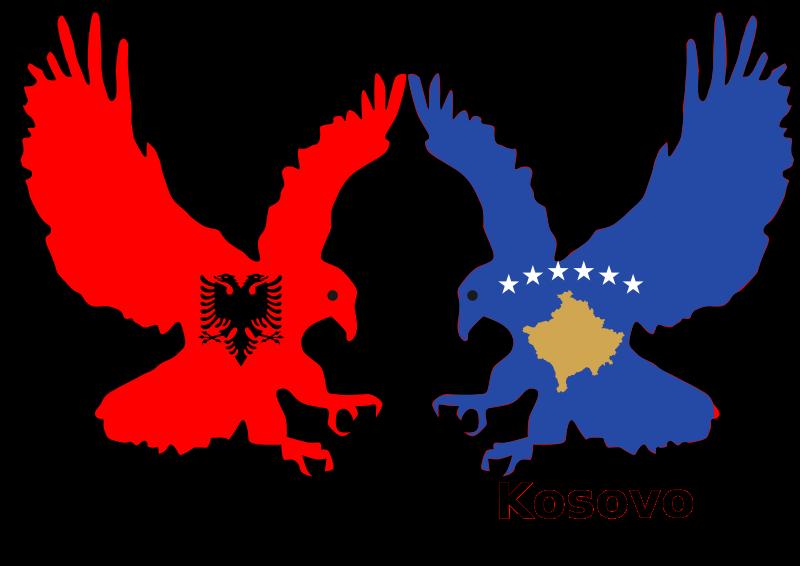 clipart albania and kosovo  two eagles clipart eagle soaring clipart eagles and crosses