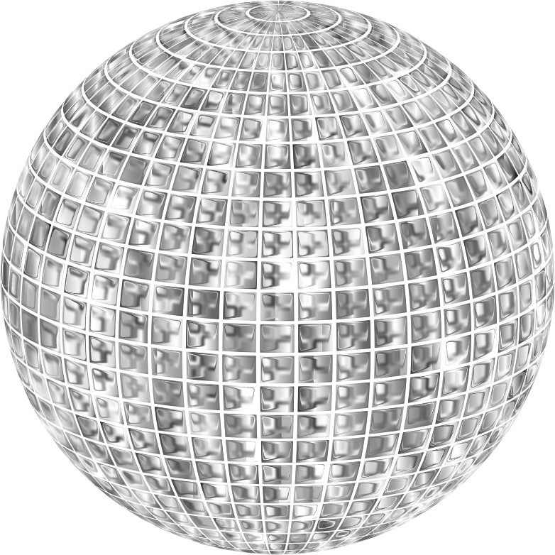 Clipart Glimmering Disco Ball Enhanced No Background