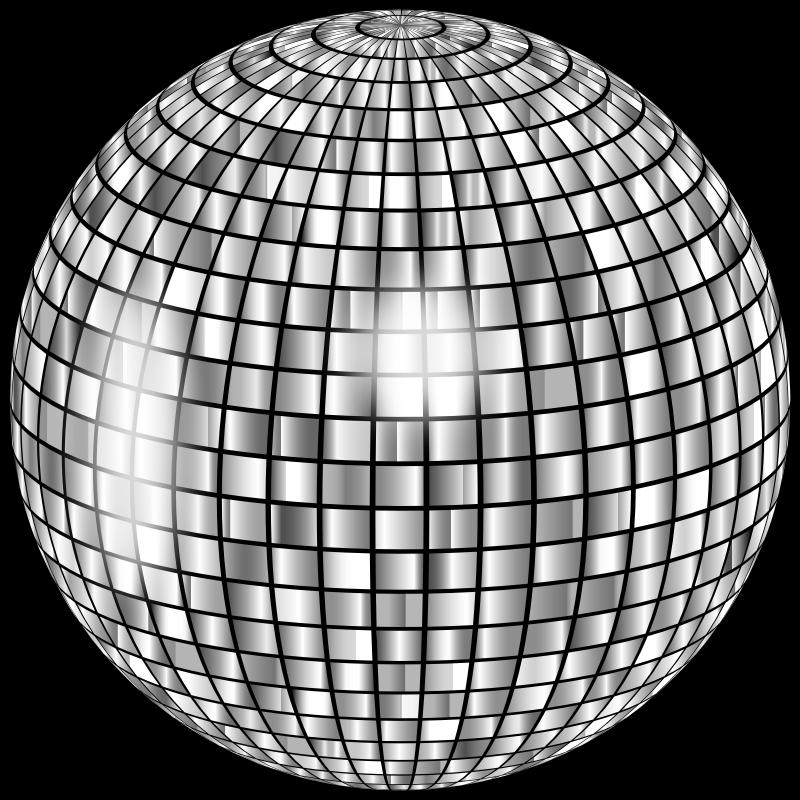 Clipart - Glimmering Disco Ball Enhanced 2