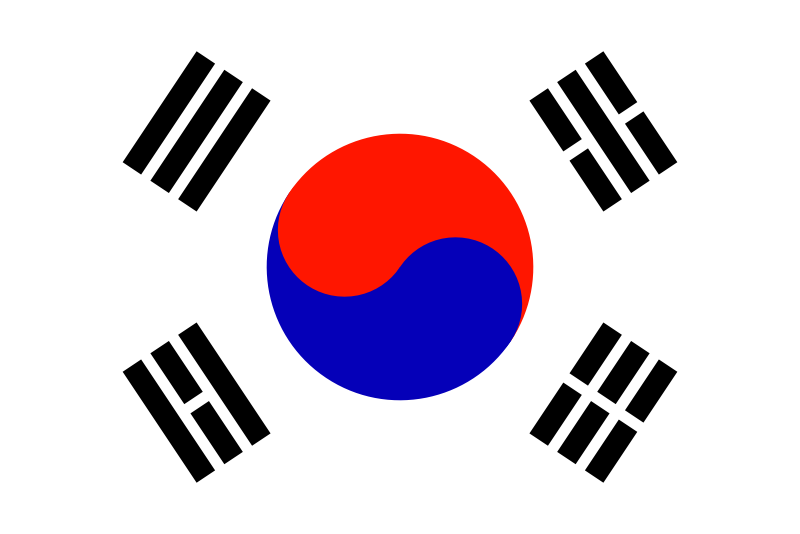 Flag of South Korea by Anonymous -
