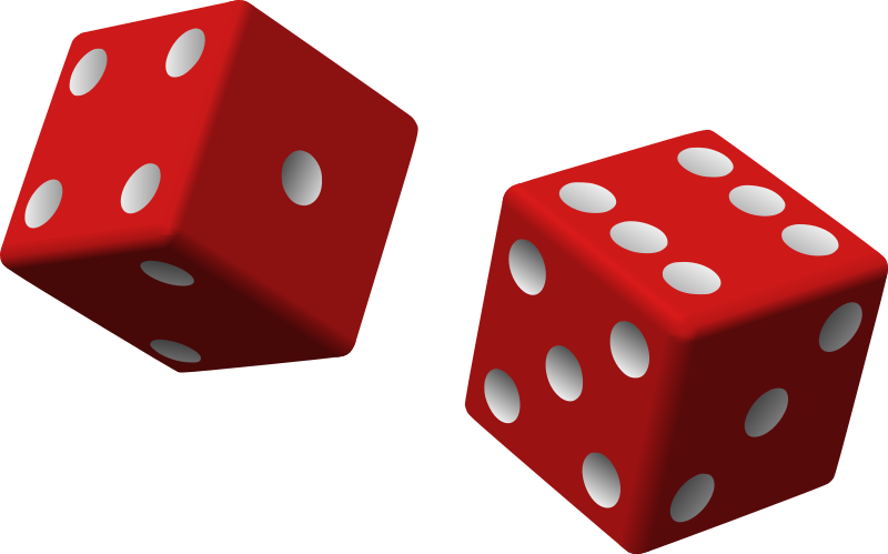two red dice by Anonymous