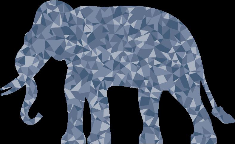 Clipart - Polygonal Elephant Silhouette