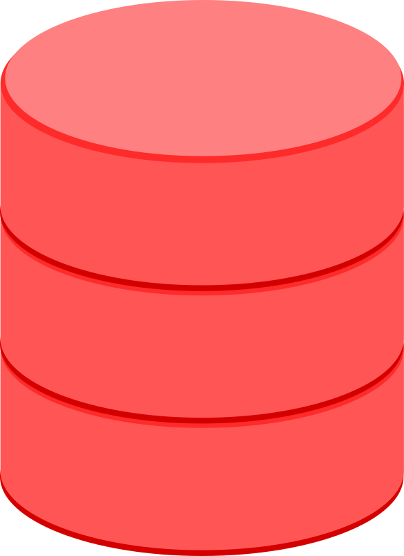 Clipart - DataBase Red