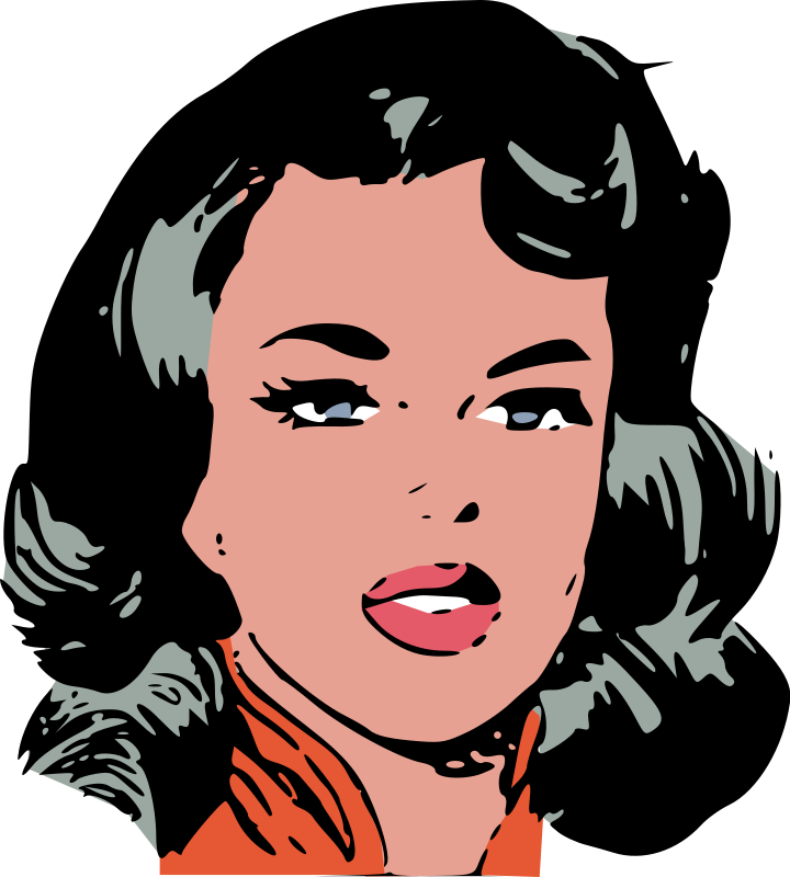 Woman face clipart  Etsy