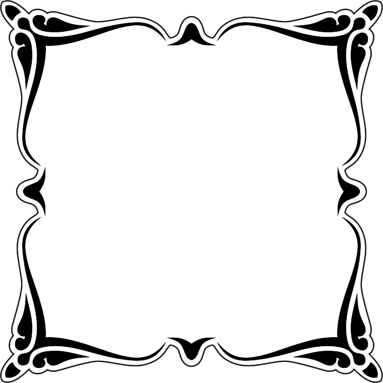 Clipart decorative frame 10 for Miroir noir download