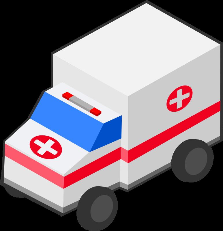 Clipart - Isometric Ambulance