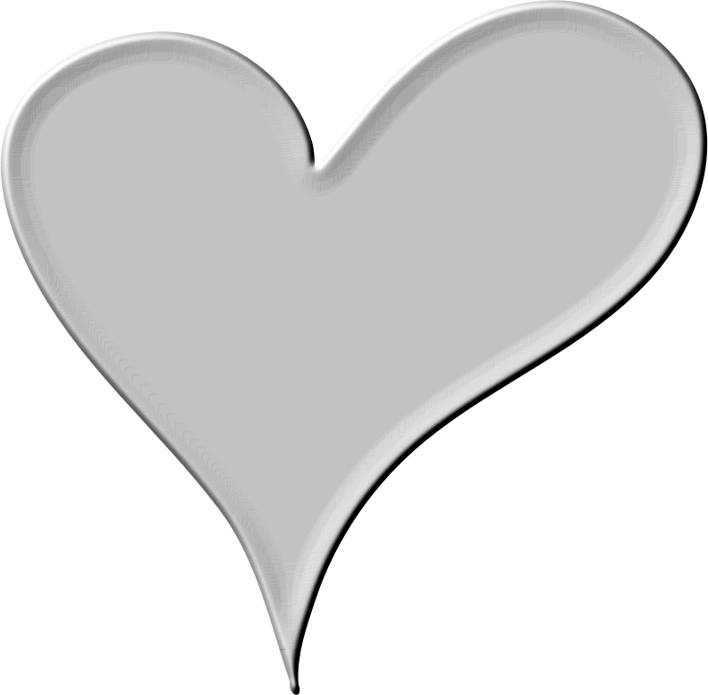 transparent black heart - 792×778