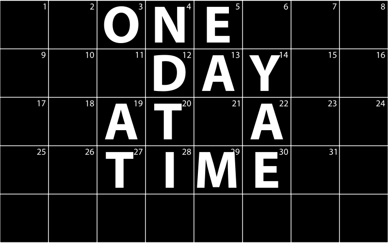 Clipart - One Day At A Time