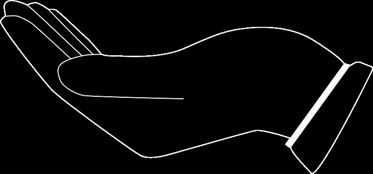 open hand silhouette