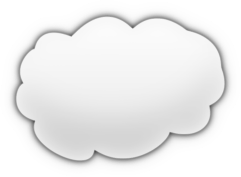 Cartoon Cloud by egyninja - Just a cartoon-looking cloud I made in GIMP. Then I traced it in Inkscape.
