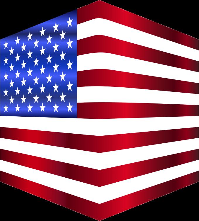 Clipart - USA Flag Cube