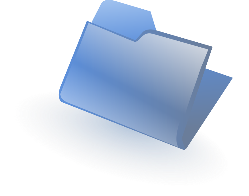 "Closed Folder by Andy - A blue ""folder"" by Andrew Fitzsimon. Etiquette Icon set. From 0.18 OCAL database."