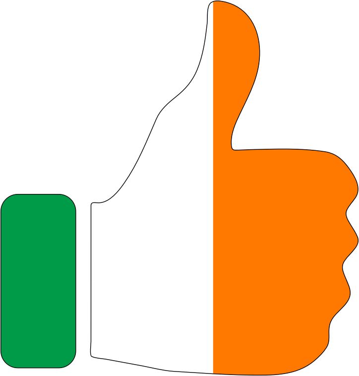 Thumbs Up Ireland With Stroke