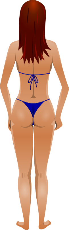Clipart - Young lady (light skin, blue bikini, red hair): https://openclipart.org/detail/253472/young-lady-light-skin-blue...