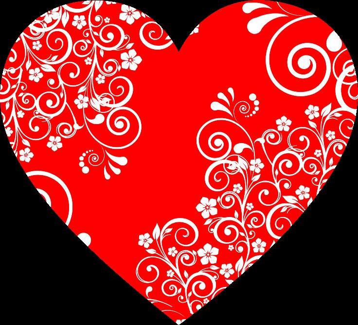 Clipart - Floral Flourish Heart 2
