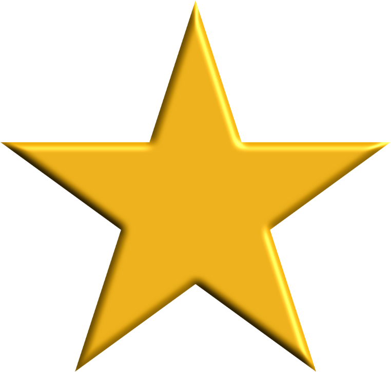 clipart gold star