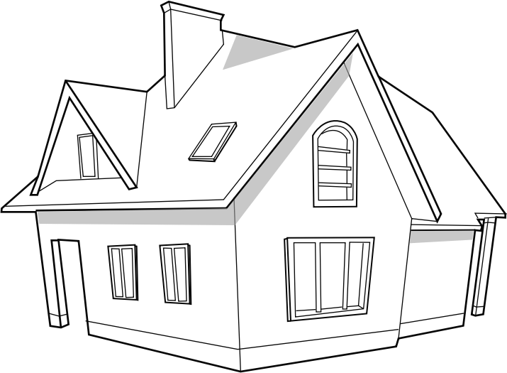 Clipart modern house svg image for videoscribe for Modern house clipart